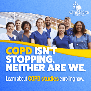 COPD isn't stopping. Neither are we. Learn about COPD studies enrolling now!