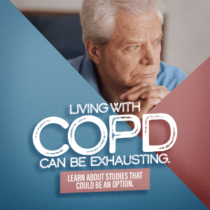 Living with COPD can be exhausting