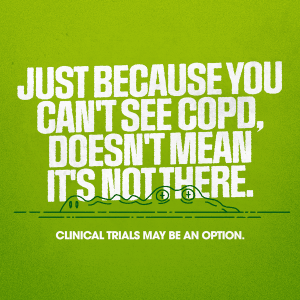 Just because you can't see COPD, doesn't mean it's not there.